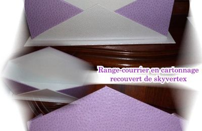 Porte courrier en skyvertex