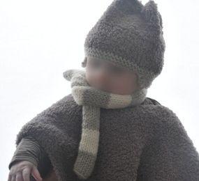 Poncho au tricot pour mon bout d'chou