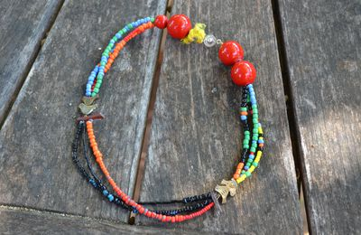 Confection d'un collier dans le style africain