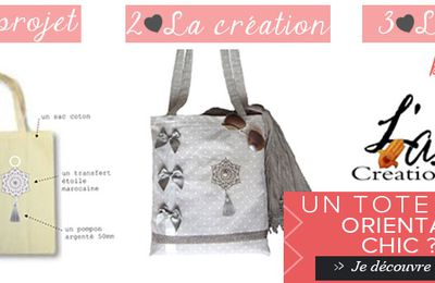"Tote Bag ""oriental Chic"" de L¨As Créations"