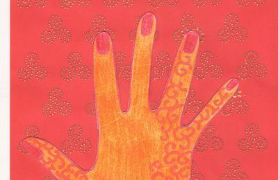 Mosaique de mains avec Caro