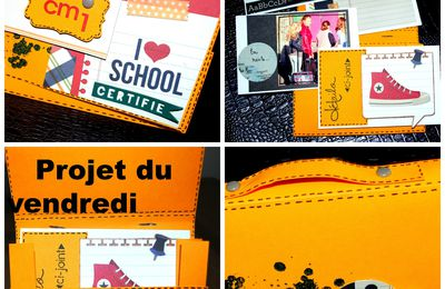 "Petit cartable ""I love School"""