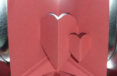 Gabarit gratuit : Kirigami : Double coeur