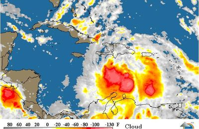 Cyclone Isaac - situation au 24 aout