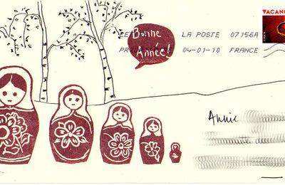stamp'art dessin et calligraphie pour des voeux