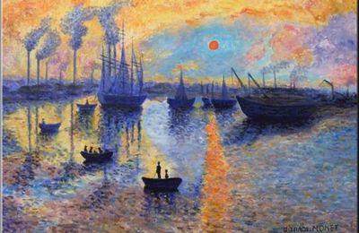 Soleil Levant. d'après Claude Monet.