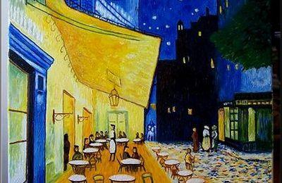 Van Gogh. Copie de la terrasse du café.