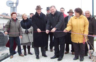 Le parking du champ de foire a été inauguré (Saint-Jean-d'Angély 30.11.2010)