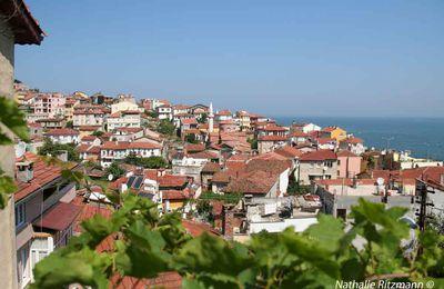 Tirilye au bord de la Mer de Marmara, couleurs rouille et vert olive