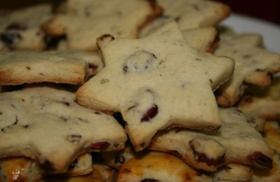 biscuits cranberries et noix de pecan....