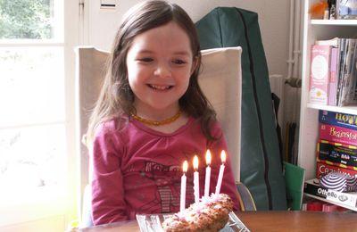Caitline fête ses 4 ans