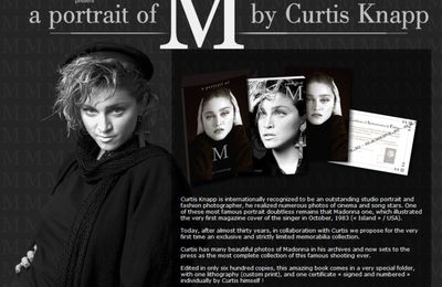 Madonna Book: ''A Portrait Of M'' by Curtis Knapp
