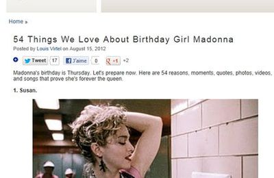 54 Things We Love About Birthday Girl Madonna
