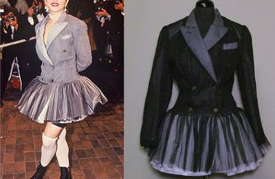 Madonna's Jean Paul Gaultier outfits in Fashion Auction in Paris on Nov. 12, 2012