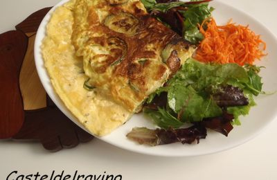 Omelette aux courgettes...!