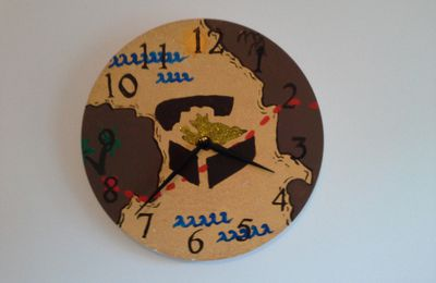 Horloge pirate - déco à 6 mains (la suite)