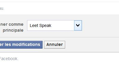 Passer son Facebook en « Leet speak »