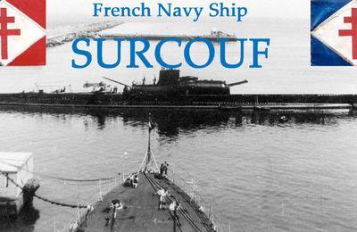 Surcouf (sous-marin) - Le plus grand sous-marin militaire du monde de son époque (en tonnage)