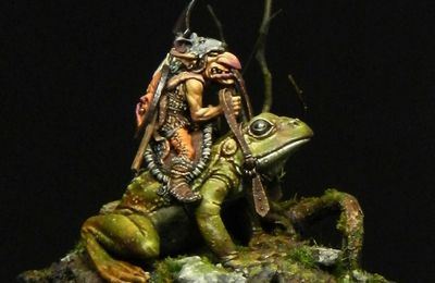 Squarg the Frog Rider - Blacksmith Miniatures