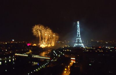 Feu d'artifice à la Tour Eiffel