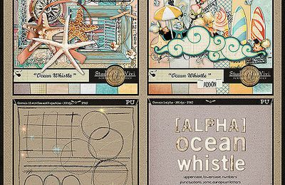 """Ocean Whistle"" Collection is on shop and a ONE-DAY Freebie"