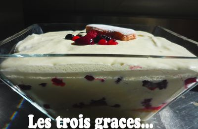 Tiramisu aux fruits rouges...