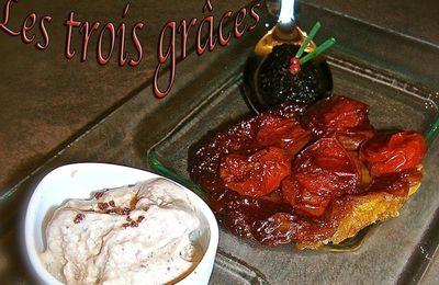 Tarte tatin à la tomate et sa glace à l'olive...