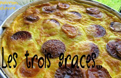 Tarte chorizo/poivrons/chèvre...