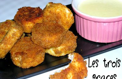 Les nuggets... version poisson, sauce au parmesan.