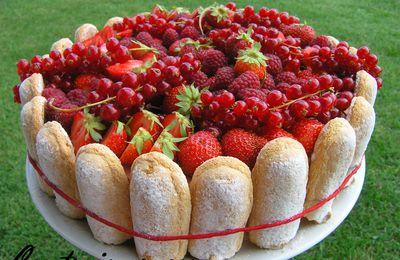 Entremet à la fraise...