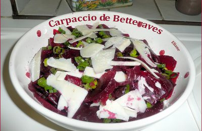 Carpaccio de betterave Rouge