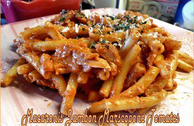 Macaronis Jambon et Mascarpone