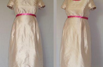 robe de grossesse cocktail soie sauvage et satin