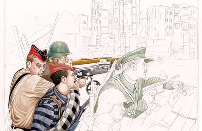 Guerre civile espagnole : une illustration de Angel Garcia Pinto
