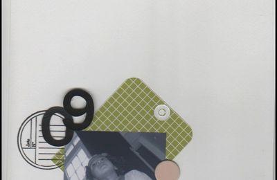 chronique d'une journée ordinaire avec tampon et papiers kési'art.