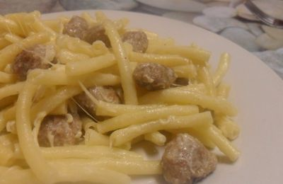 Pasta boulette fromage