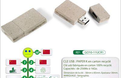 Clé usb en papier recyclé GOVA Distribution