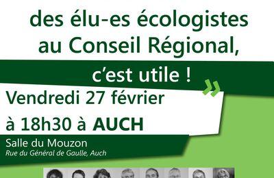 Tournée régionale EELV : A Auch le 27 Février 2015