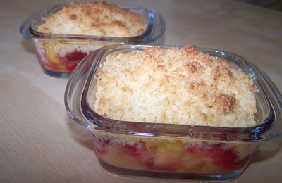 Crumble pomme/framboise/coco