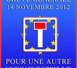 14 novembre 2012 : Grève générale pour une autre Union Européenne