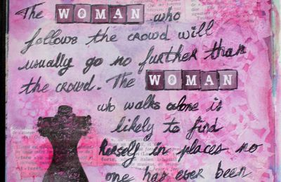 The woman ...
