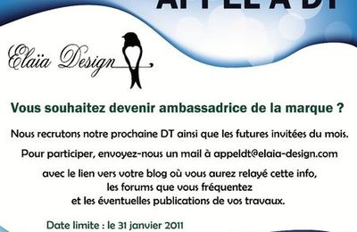 Appel DT Elaia-design