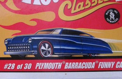 SNAKE PLYMOUTH BARRACUDA FUNNY CAR HOT WHEELS 1/64