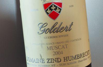 Grand Cru Goldert Muscat 2004 Domaine Zind-Humbrecht.