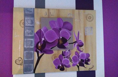 TOILE ORCHIDEES
