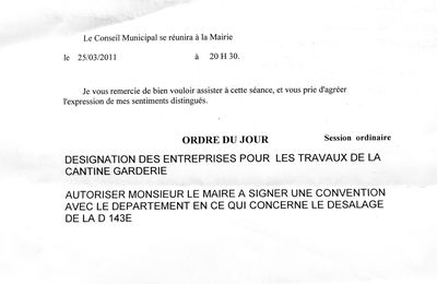 -21/03/2011- | Conseil Municipal- |