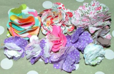 tuto fleur en tissu/ Tutorial fabric flower