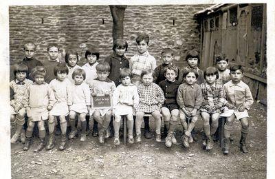 Une classe au Collet de Dèze en 1931