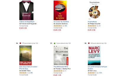 """Incarnations"" dans le top 100 des ventes eBooks sur Amazon"