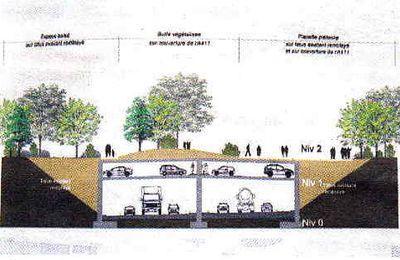 Parking P+R de 900 places sur l'A 411